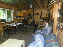 Inside camp facing stove 2016