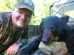 Chris Baird and bear