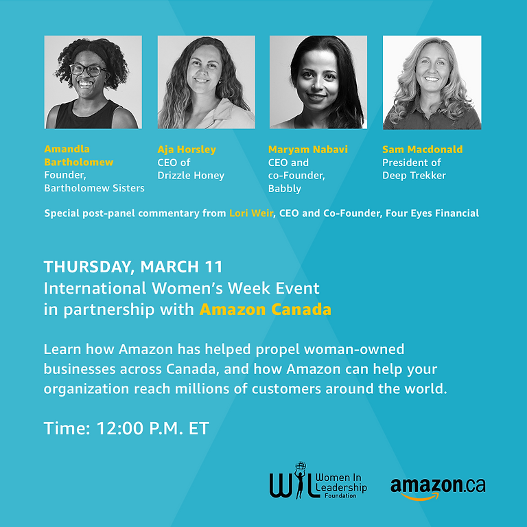 International Women's Week Event in partnership with Amazon Canada