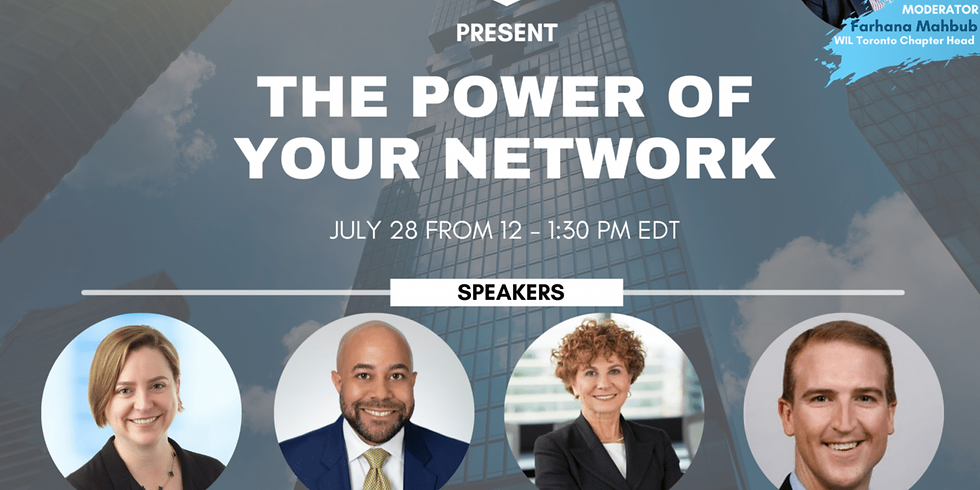"""Ernst & Young and the Women in Leadership Foundation present """"The Power of your Network"""""""