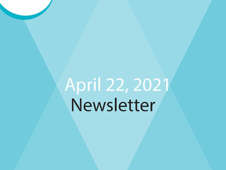 E-Newsletter for April 22 - Read All About It!