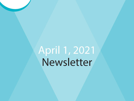 E-Newsletter for April 1 - Read All About It!