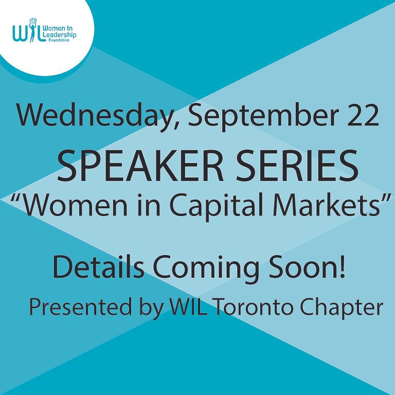 Speaker Series: Women in Capital Markets