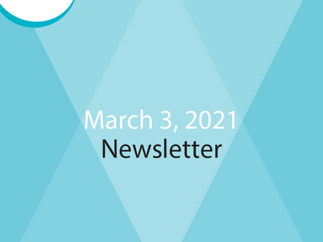 E-Newsletter for March 3rd - Read All About It!