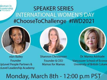 International Women's' Day Keynote Speakers