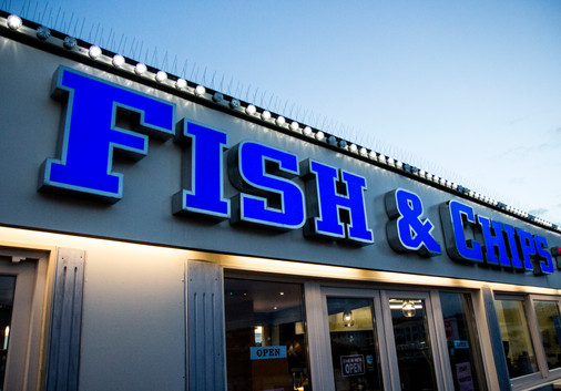 Fish and Chips on Paignton Pier