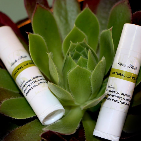 Moisturizing, All-Natural Lip Balm (2 pack)
