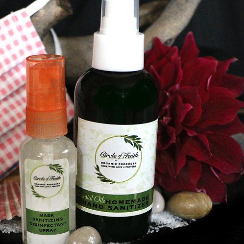 Homemade, Moisturizing Hand Sanitizer 2oz & 4oz bottles