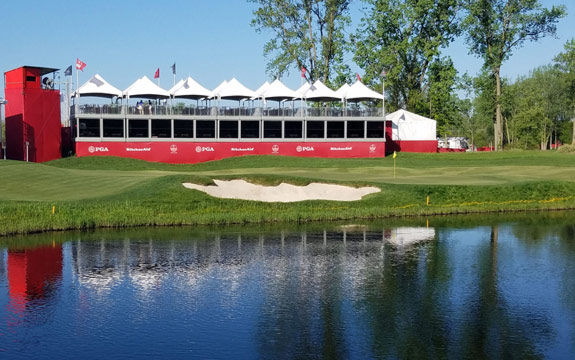Senior PGA Tour, mobile structures for hospitality