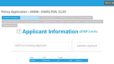Insurance Electronic Policy Application