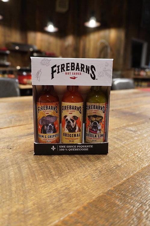 Firebarns Trio - Sauces Piquantes - 3 fois 53ml