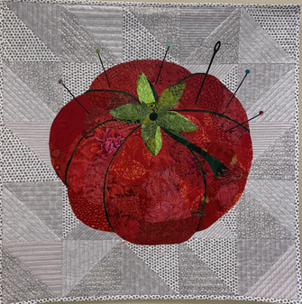 Pin Cushion Collage by Nina Moore