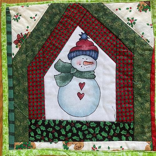 Frosty, a 10x10 inch mini quilt