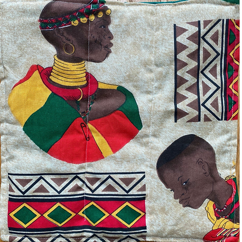 African Heritage 12x12 inch mini art quilt