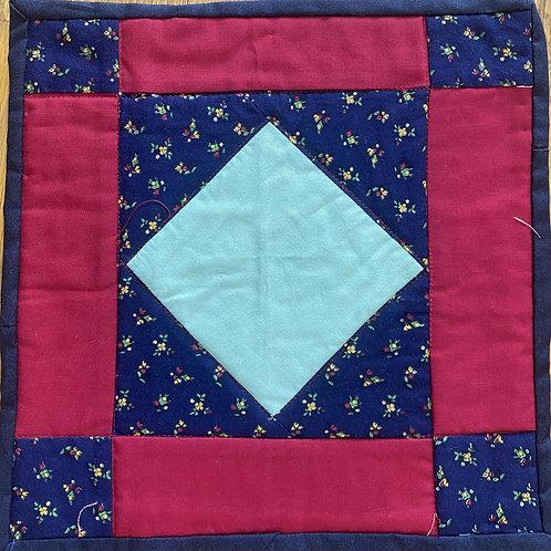 Amish Square, 10x10 inch mini quilt