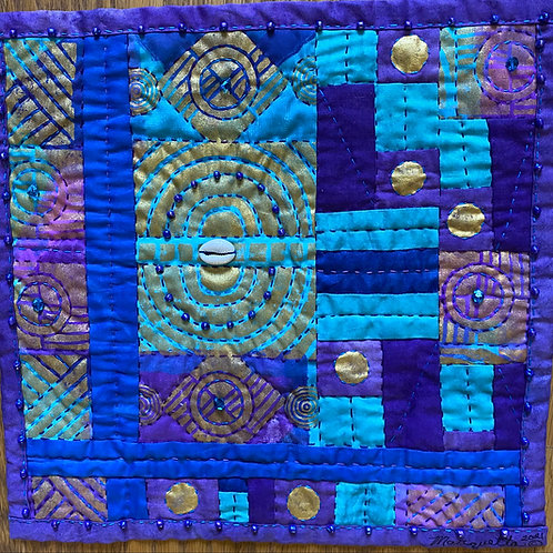 Purple Power hand quilted art quilt
