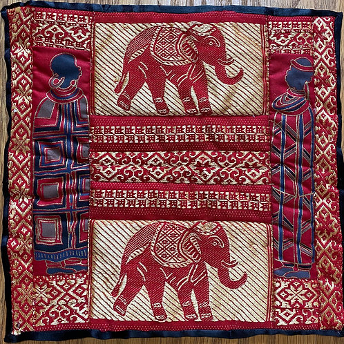Red African Elephant 10 inch mini quilt