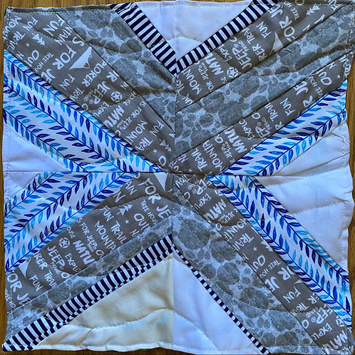 Floating Logs 12 inch quilt