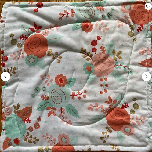 Happy Flower 12x12 inch mini art quilt
