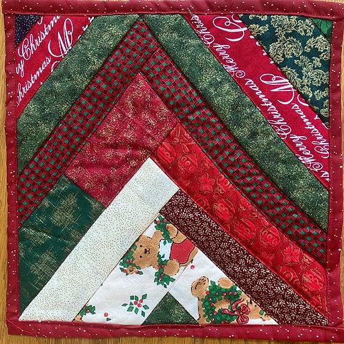 Christmas Colors, 10x10 inch mini quilt