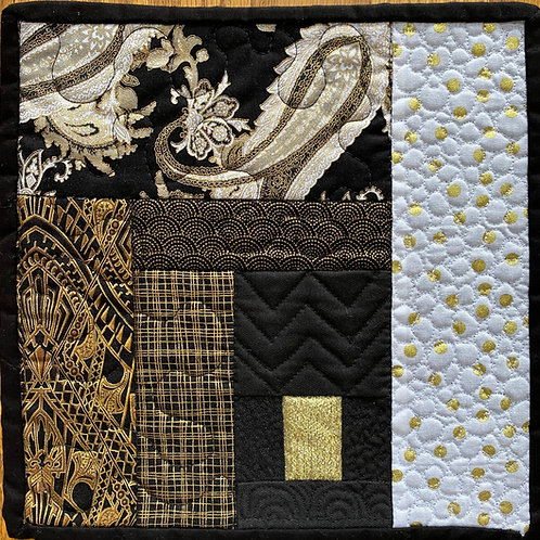 Black and White mini quilt by Michelle Curney Willis