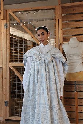 Bow Shoulder Drape Maxi Dress