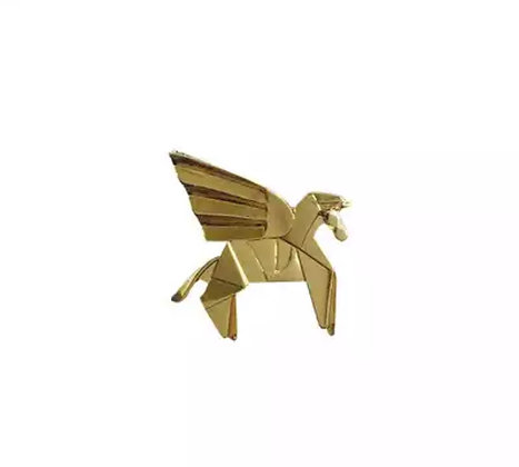 Small Lion Origami pin
