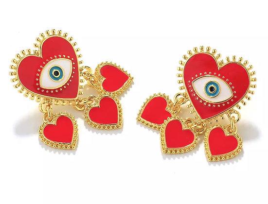 Galbae Red Earrings