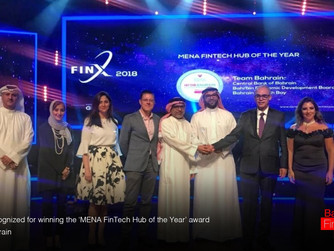 Bahrain recognized for winning MENA FinTech Hub of the Year award