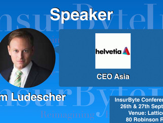 We're pleased to have Helvetia and Dr. Tom Ludescher, as an Associate Partner for InsurTech Conf