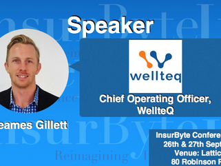 We are excited to announce Jeames Gillett, Chief Operating Officer at WellteQ as a Speaker for Insur