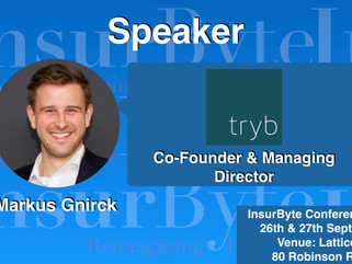 InsurByte is delighted to announce Tryb Capital and Markus Gnirck as our Speaker for InsurByte Confe