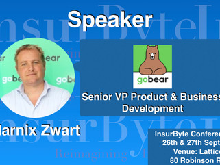 It's with great delight that InsurByte announces GoBear and Marnix Zwart as our Speaker for InsurByt