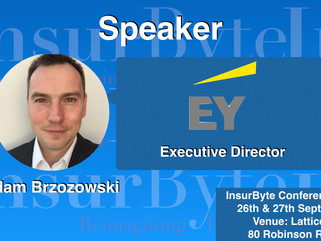 InsurByte is excited to announce Ernst & Young and Adam Brzozowski as our Speaker for InsurByte