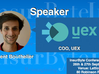 We are excited to announce Clement Bouthelier, COO at UEX, as a Speaker for InsurByte Conference 201