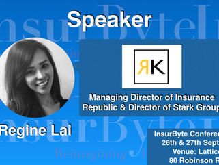 InsurByte is pleased to announce Regine Lai as one of our speakers for InsurByte Seminar!