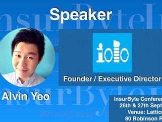 It is our pleasure for InsurByte to announce Alvin Yeo as one of our panelists for InsurByte Seminar