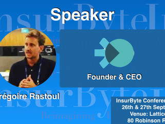InsurByte is with great excitement  that we announce uex and Grégoire Rastoul as our Speaker for Ins