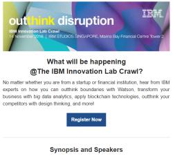 What Will Be Happening @ IBM Innovation Lab Crawl?