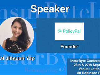 InsurByte is pleased to announce PolicyPal and Val Jihsuan Yap as a Speaker for InsurByte Conference
