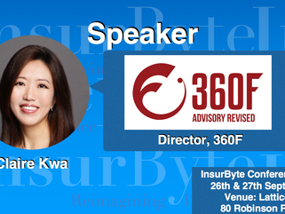 We are excited to announce Claire Kwa, Director at 360F, as a Speaker for InsurByte Conference 2017