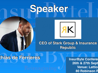 InsurByte feels great to announce Matthias de Ferrieres as one of our panelists for InsurByte Semina