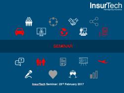 """InsurTech Seminar- """"Journey Of InsurPreneurship"""""""