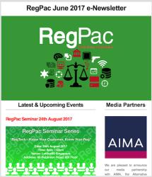 RegPac E-Newsletter