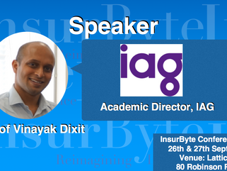 We are excited to announce A/Prof Vinayak Dixit as a Speaker for InsurByte Conference 2017!