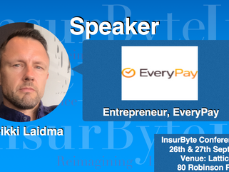 We are excited to have Heikki Laidma, Entrepreneur at EveryPay, as a speaker for InsurByte Conferenc
