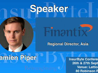 InsurByte is delighted to have Damien Piper as one of our panelists for InsurByte Seminar!