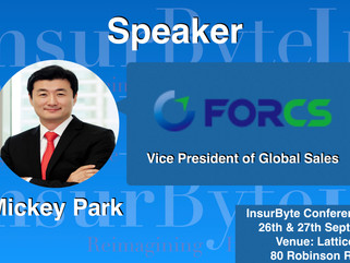 InsurByte is delighted to have Mickey Park as one of our speakers for InsurByte Seminar!