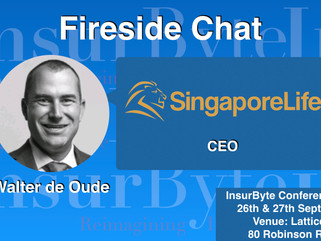 InsurByte is pleased to announce Walter de Oude from Singapore Life for a Fireside Chat Session at I