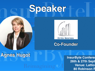 It's with great delight that InsurByte announces Agnes Hugot as our Speaker for Insurbyte Confer
